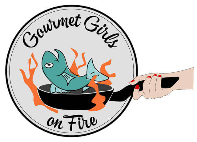 Gourmet Girls on Fire Wide Logo