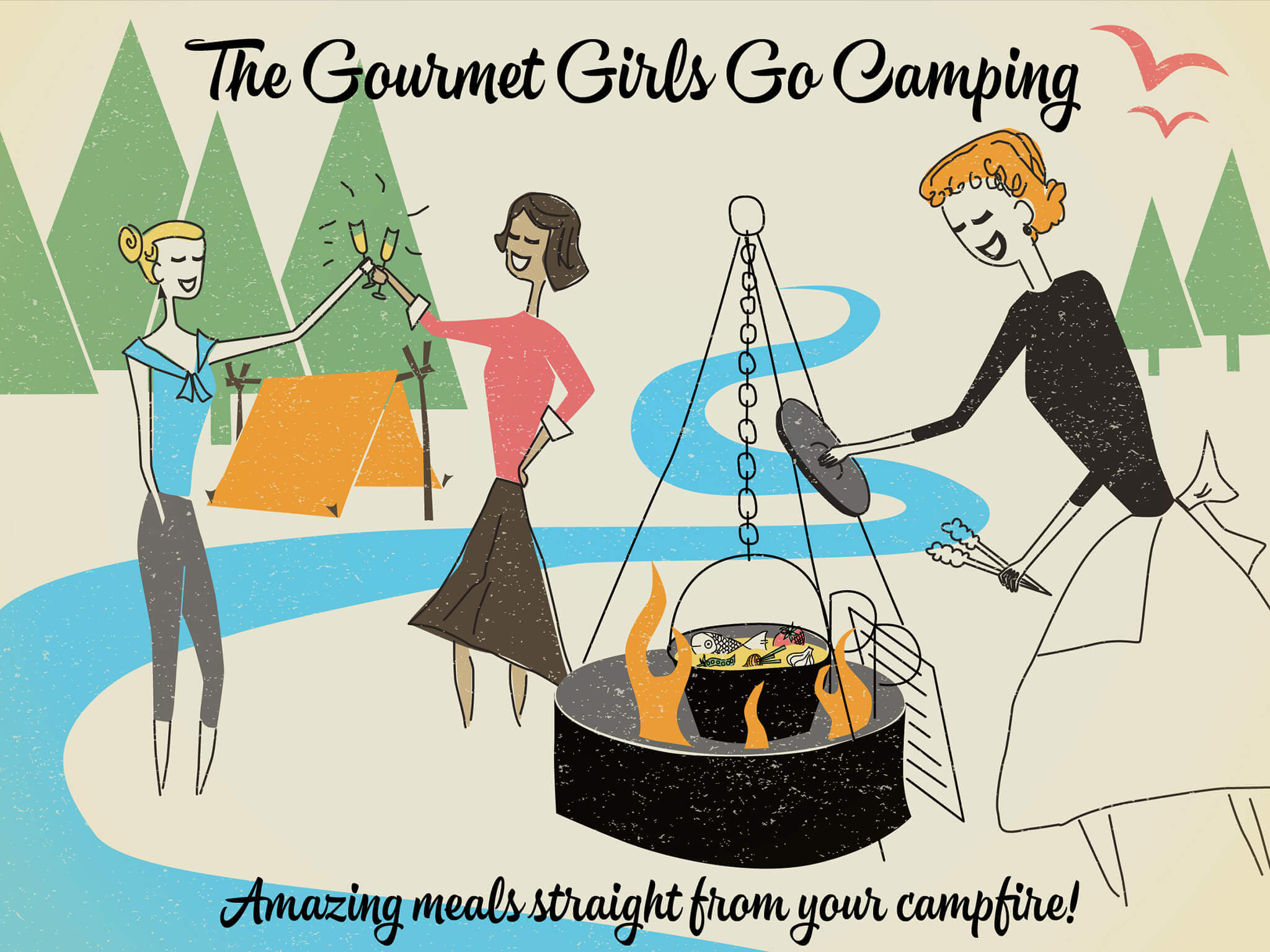 The Gourmet Girls Go Camping Cookbook Cover