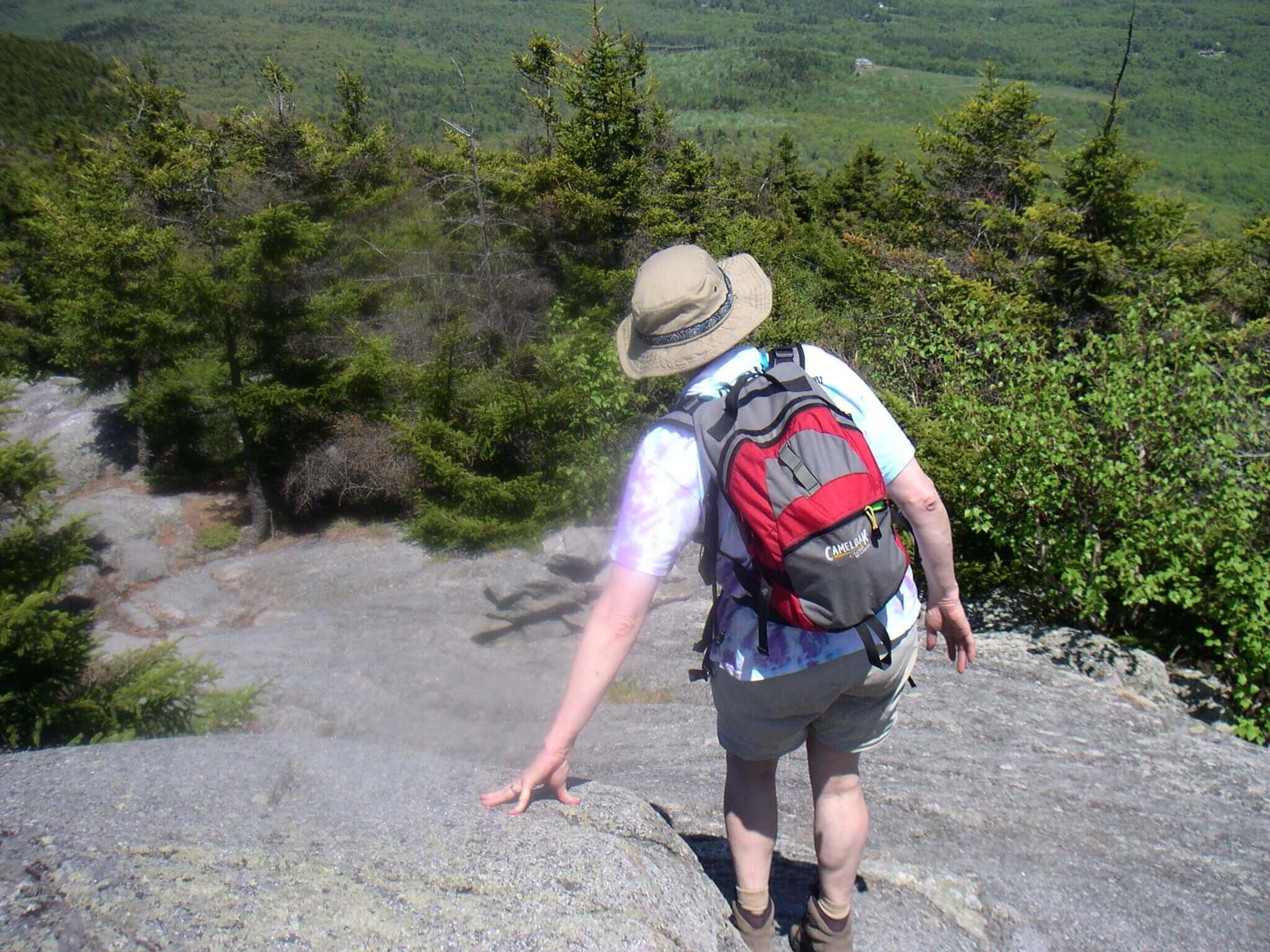 descending the mountain