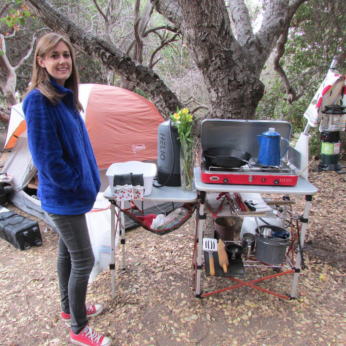 Lindsey Moran and Camping Kitchen