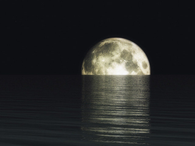 Digital Visualization of a Moonset