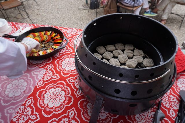 ratatouile over the coals